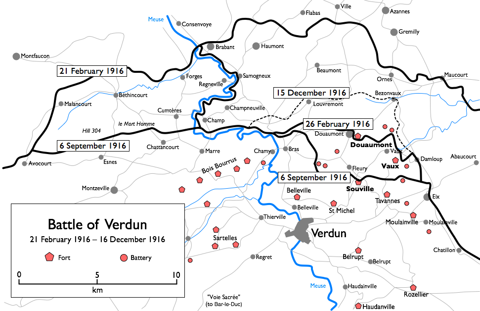 Bloody battle at Verdun