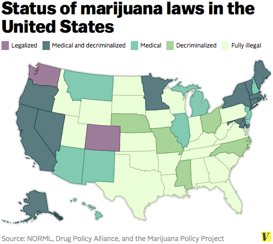24 maps and charts that explain marijuana - Vox