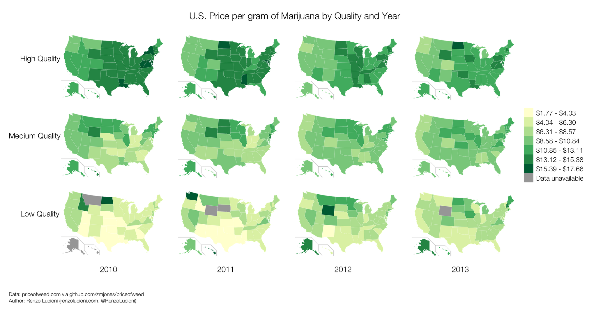 After The 1980s The Price Of Marijuana Dropped And Largely Stabilized