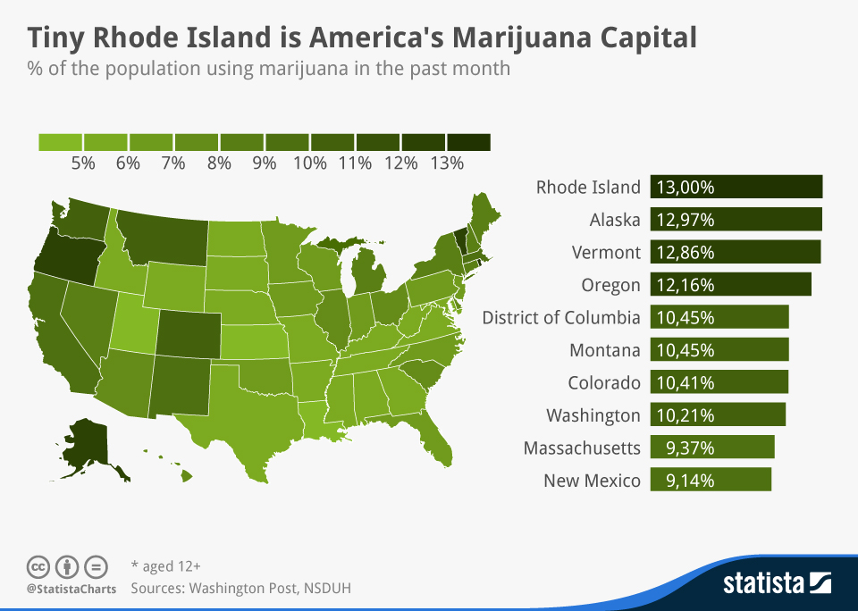 Interested Party Montana Cannabis Industry Evolving - Us map on weed laws