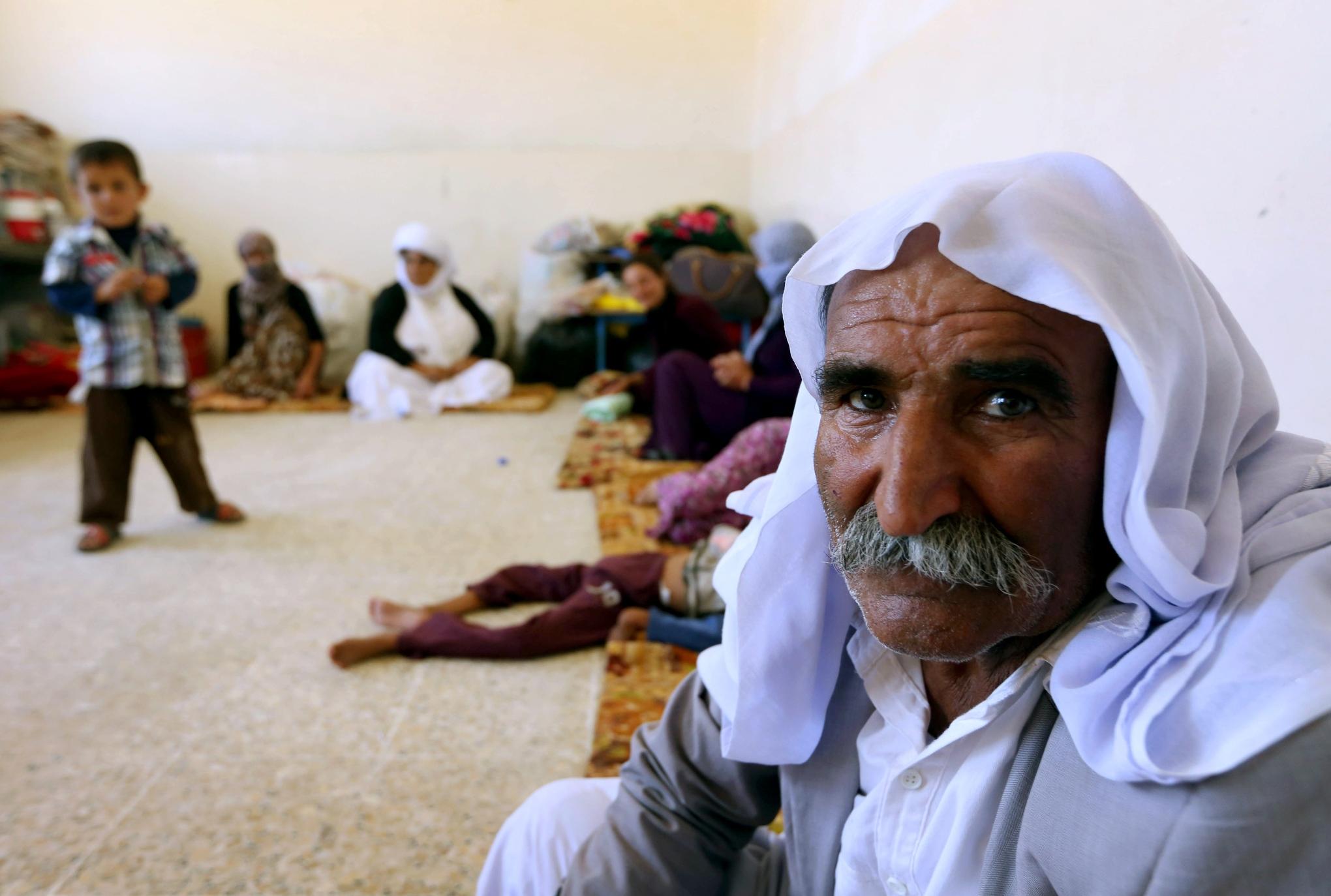 A Yazidi man. Safin Hamed Iraq
