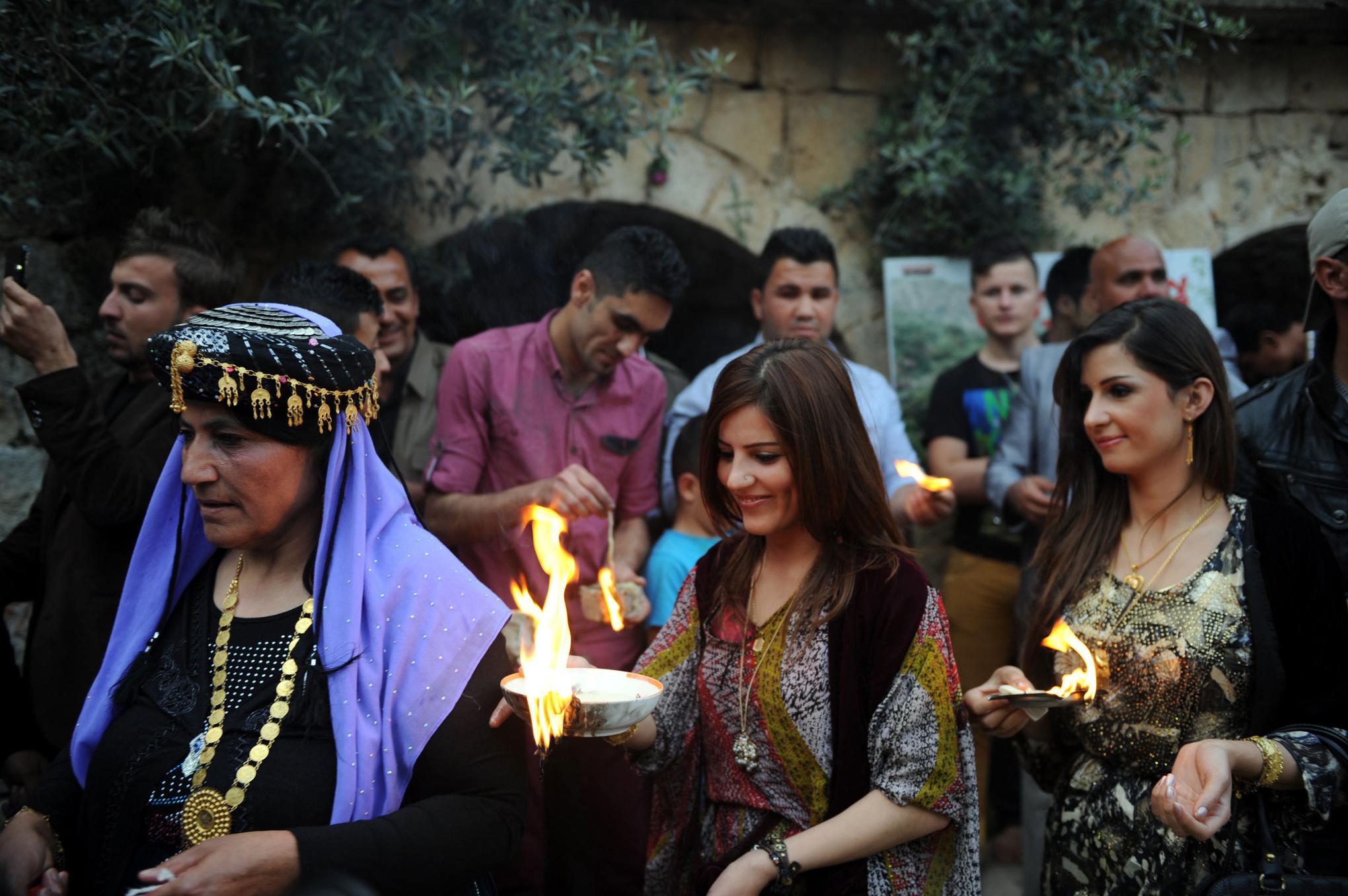 Yazidi New Year's celebrations Iraq