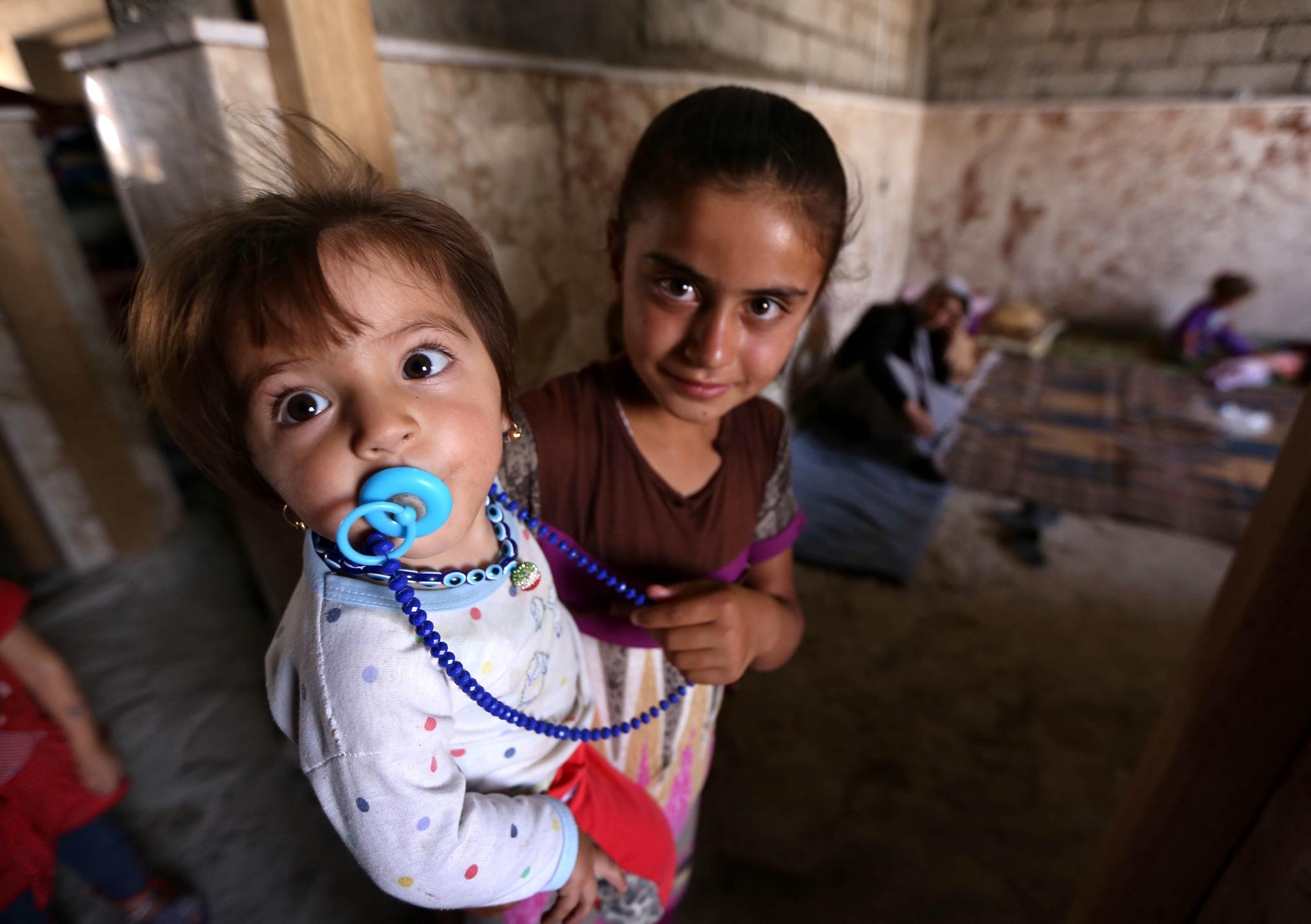 Yazidi refugees Iraq mountain
