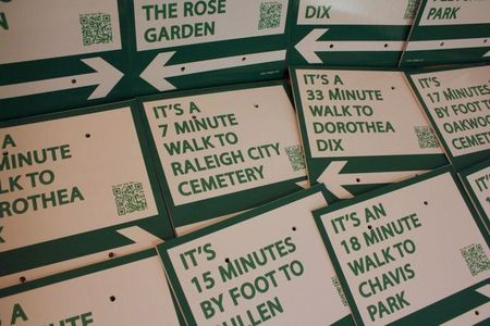 Walk Raleigh signs