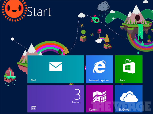 Microsoft's new Windows 8 Start Screen patterns are gloriously