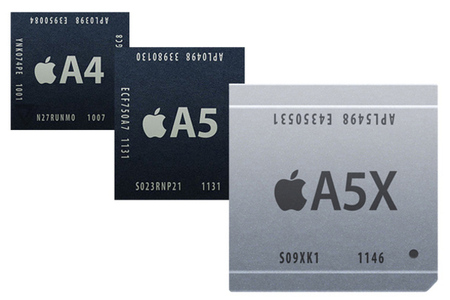 Apple A4 A5 A5X soc cpu processor stock 640