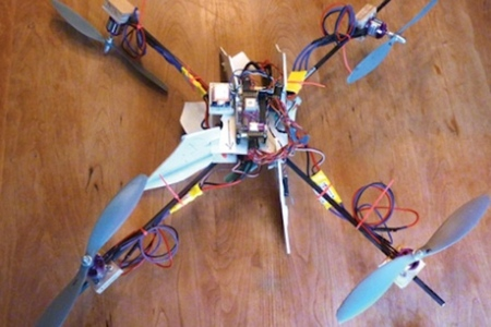 Child tracking quadcopter