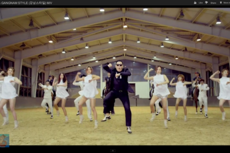 gangnam style youtube screen