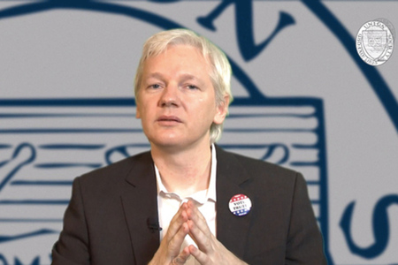 Julian Assange Oxford Union