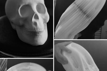 flexible paper skull