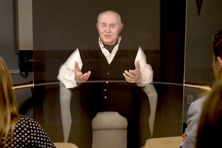 holocaust survivor hologram