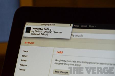 Google Play Music desktop notifications