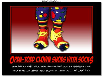 Open-toedclownshoes
