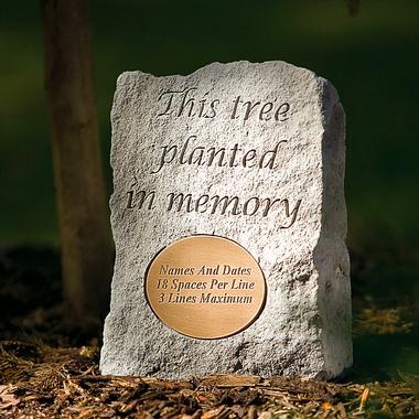 Tree memorial plaque