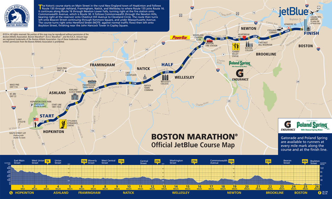 Boston Marathon 2014 Route Information Course Map Road