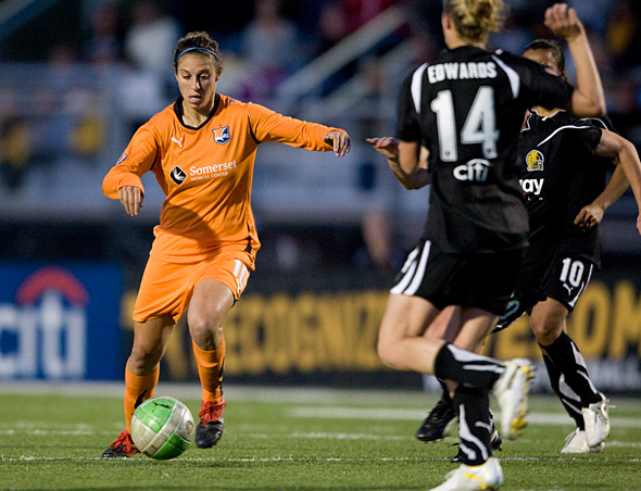Carli Lloyd of Sky Blue FC and the U.S. women's national team. Photo: Michael Pimentel, isiphotos.com