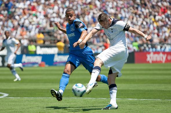 Keane strikes ball