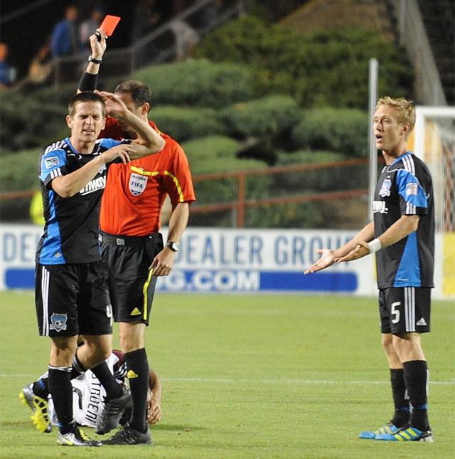 Sam Cronin's red card against Colorado