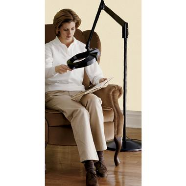 Skymall part 3 progressive boink woman sitting on a couch reading a book using the floor standing magnifier lamp aloadofball Gallery