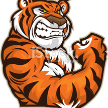 Stock-illustration-11965913-tiger-mascot-flexing