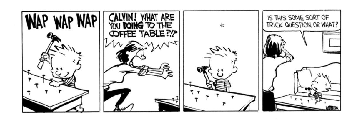 Calvin and Hobbes were even more destructive than you ...