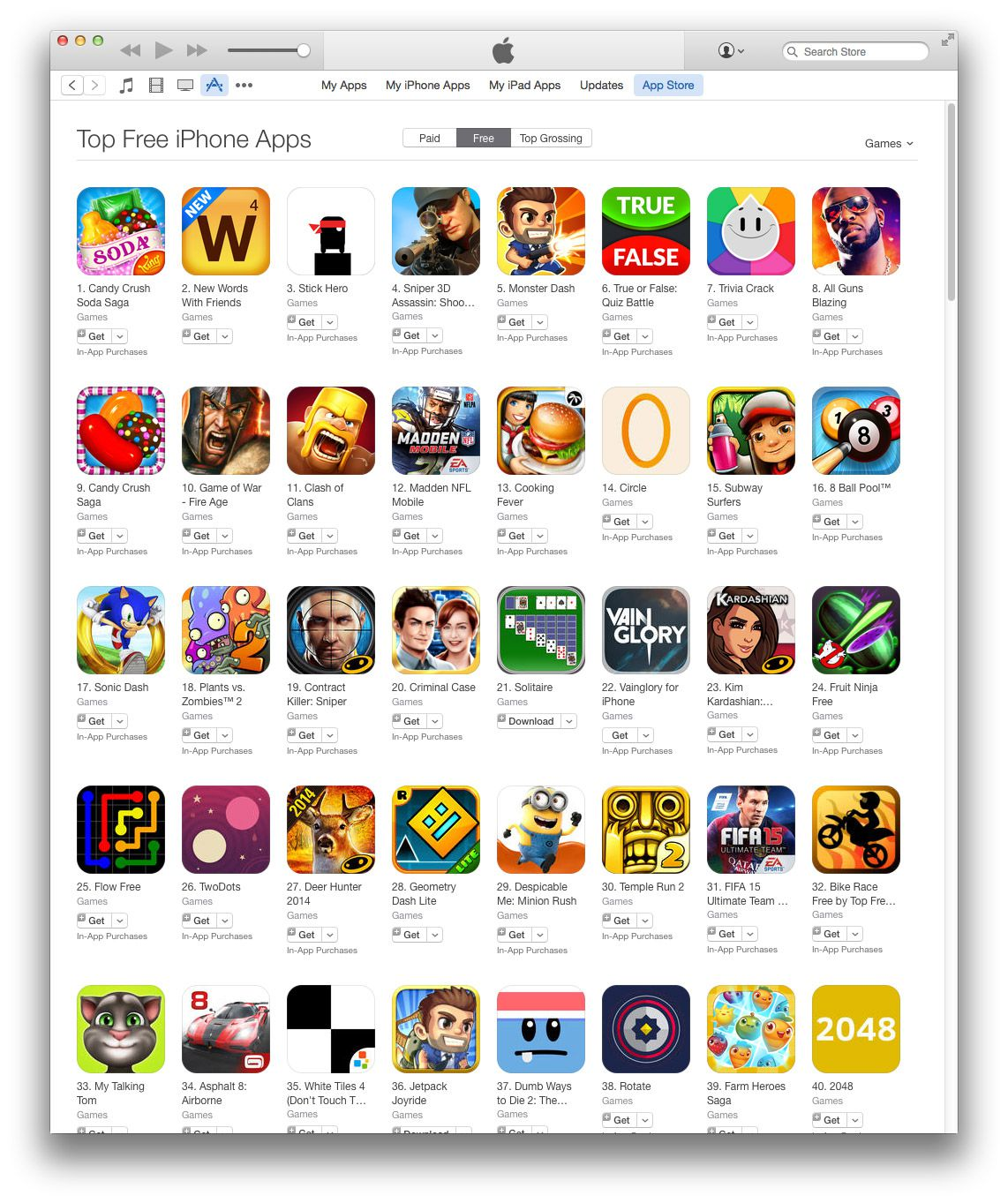 free iphone app games
