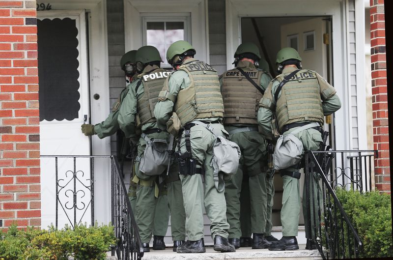 SWAT entering house Boston