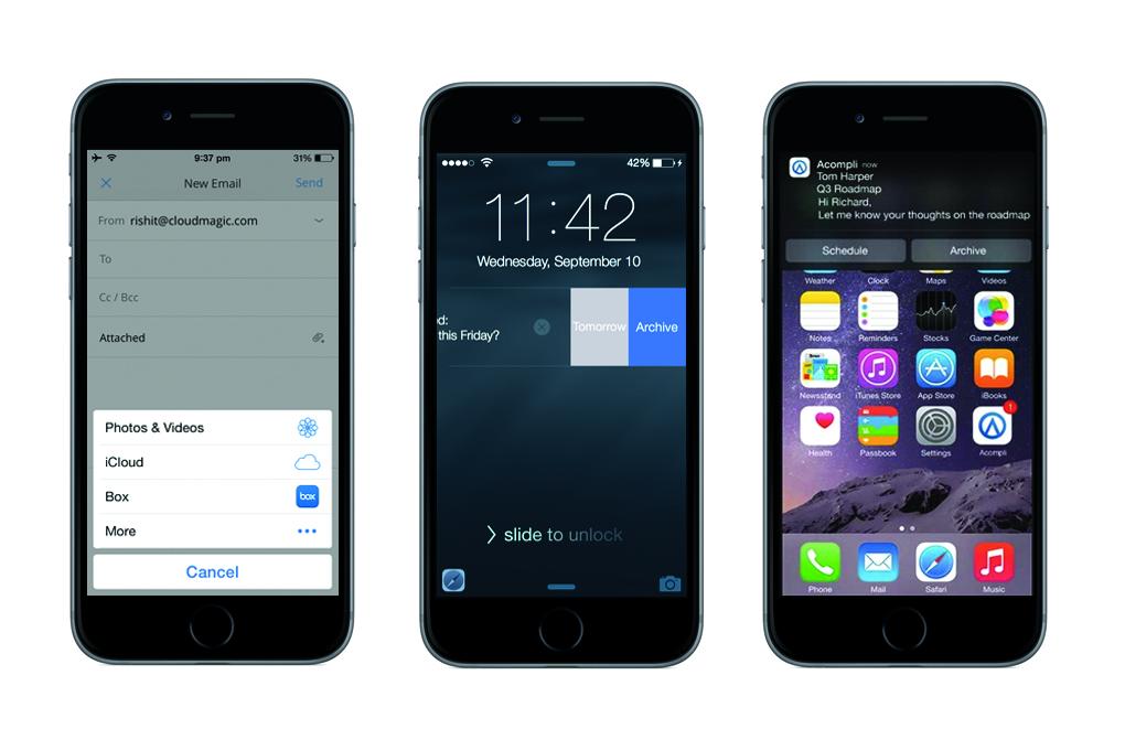 ios 8 iphones emailing