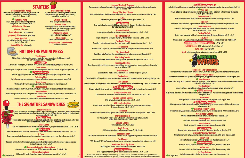 Boston Pizza Kitchen Menu