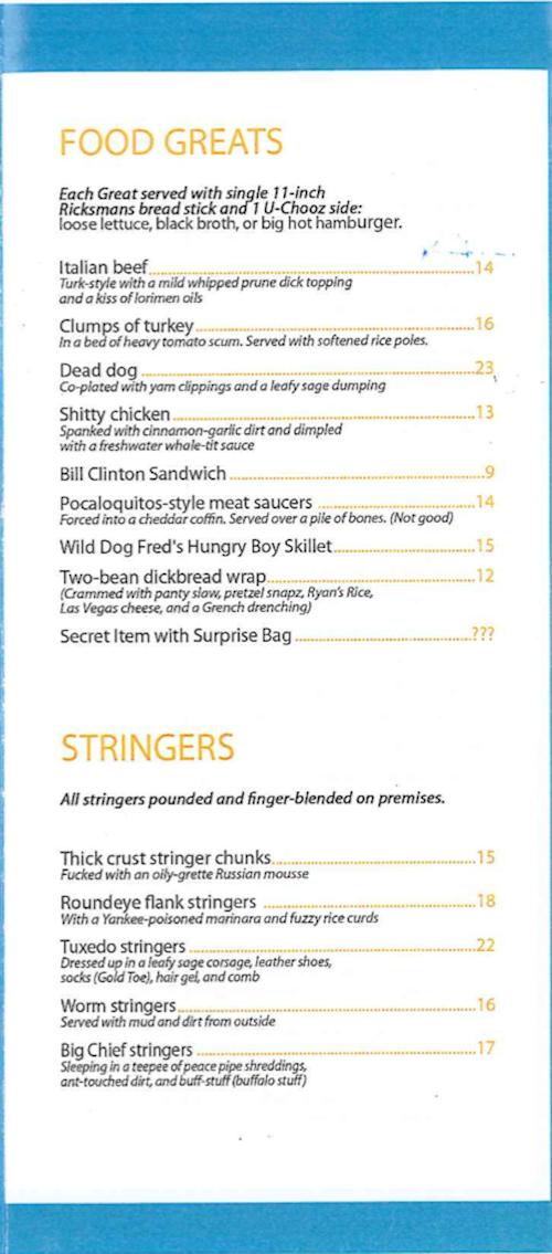 here s a fantastic fake twee brooklyn restaurant menu eater