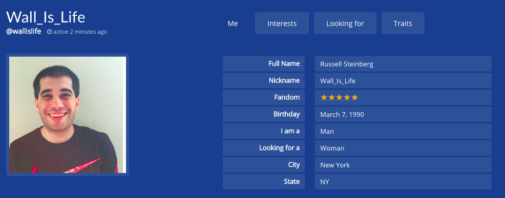 Dating site profile name ideas