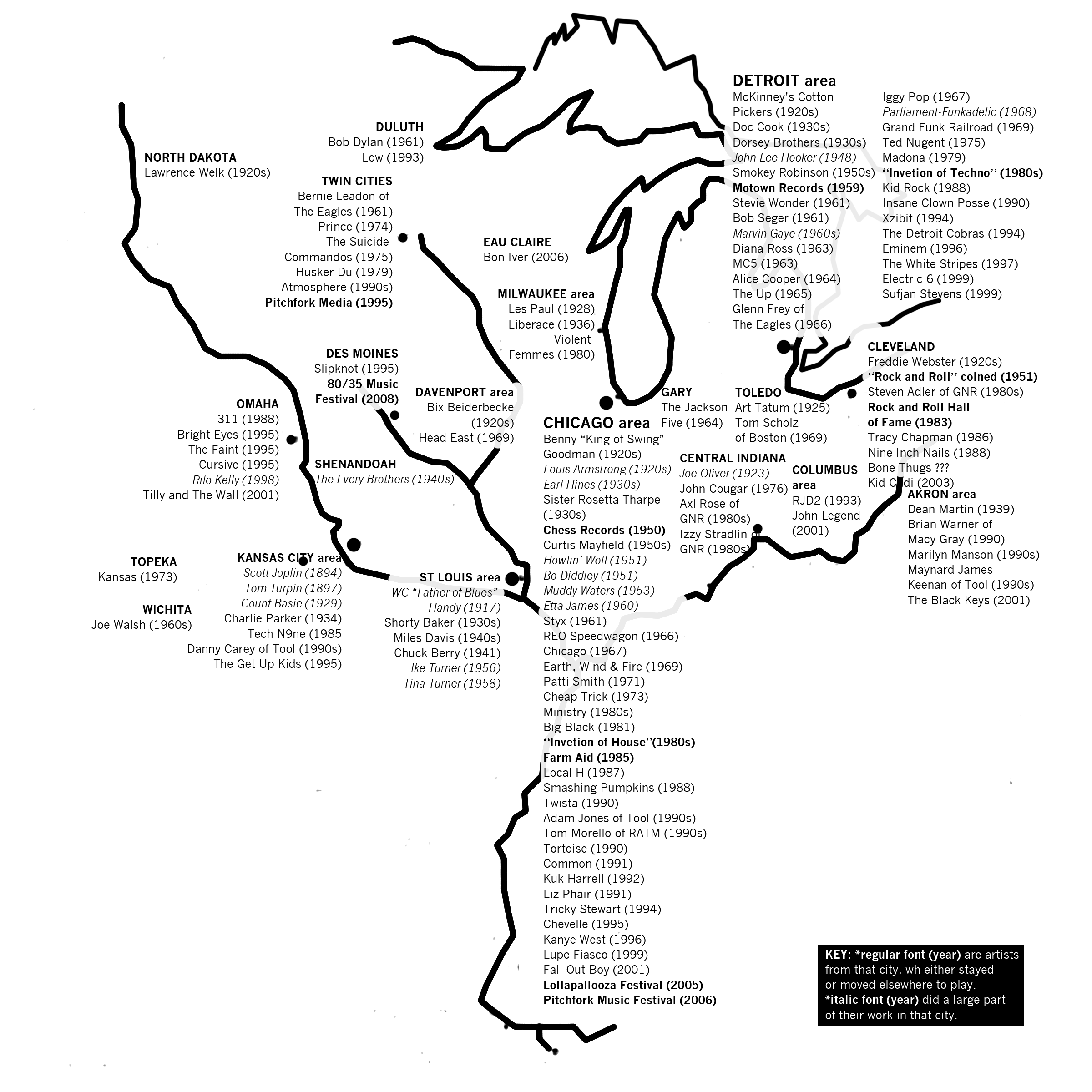 41 maps and charts that explain the midwest vox bob dylan motown and slipknot nvjuhfo Gallery