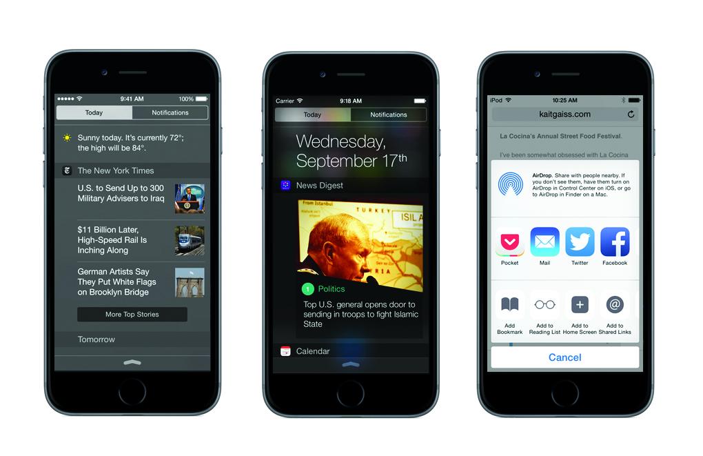ios 8 iphones news reading