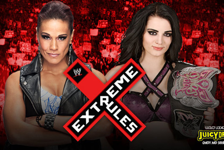 WWE Extreme Rules 2014: Paige vs. Tamina Snuka official - Cageside