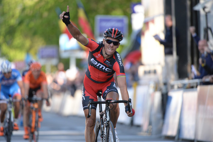 Photo: A smiling Philippe Gilbert. � Fotoreporter Sirotti (podiumcafe.com)
