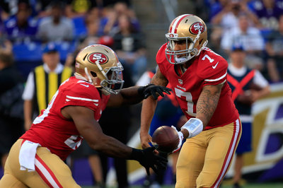 Carlos Hyde looks solid running, picking up the blitz in first career start
