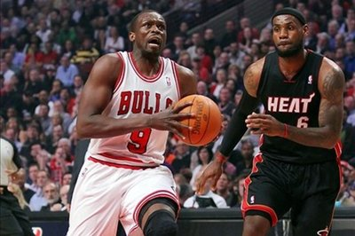 Staticizing the departure of LeBron James and his replacement, Luol Deng