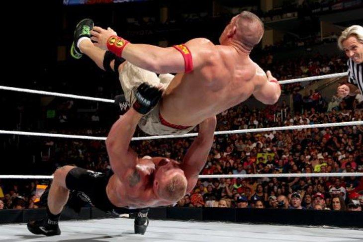 Steve Austin, Paul Heyman sell John Cena vs. Brock Lesnar ...