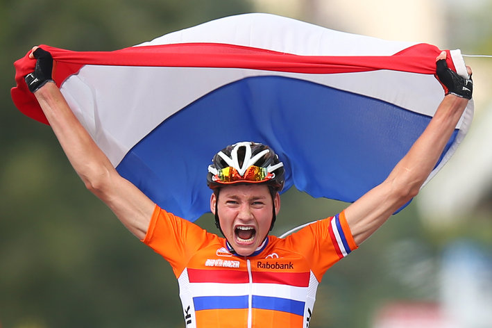Photo: Only 19, the Dutch sensation has a junior world road title to his name along with the 2012-13 junior world cyclocross title.