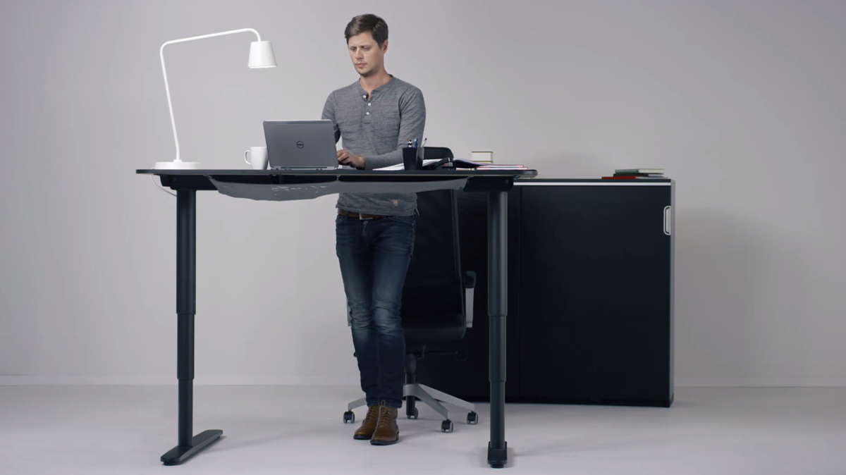 ikea hopes its new motorized standing desk will get you