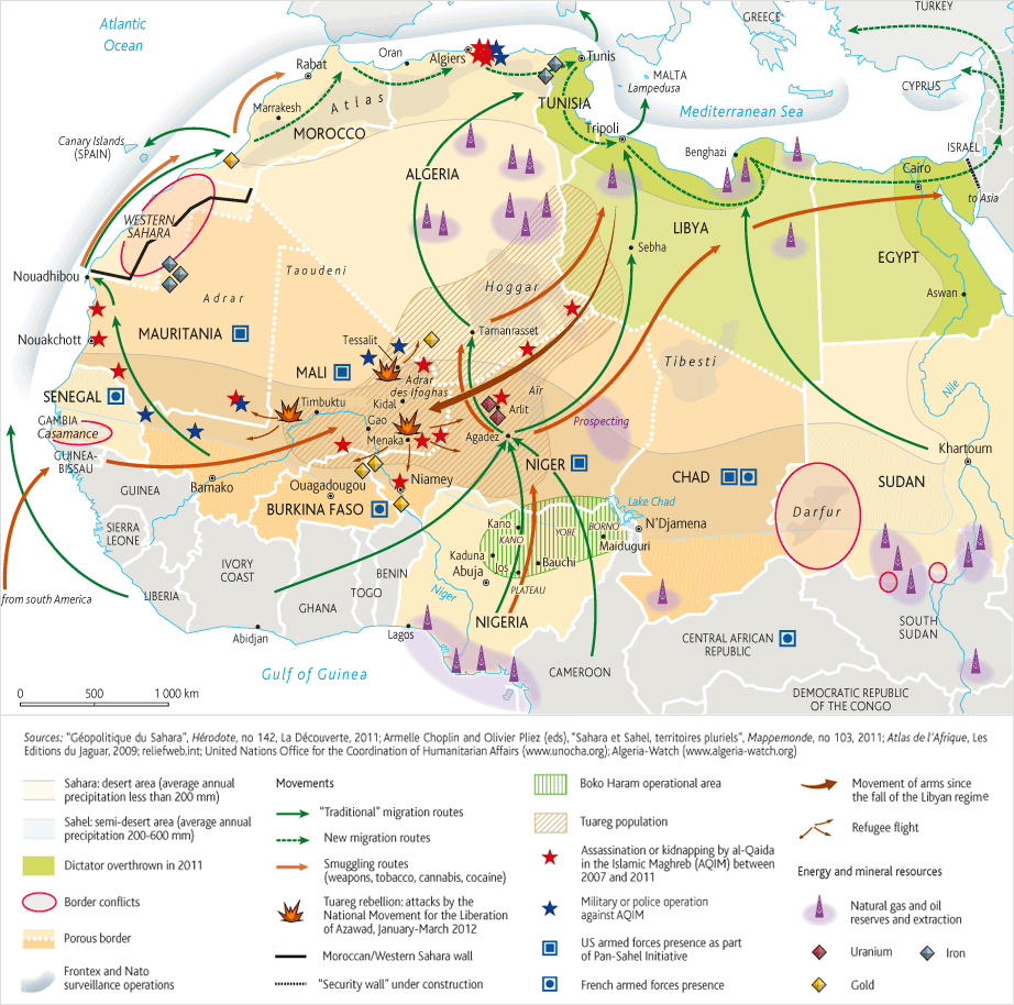 40 maps that explain the middle east how libyas 2011 war changed africa ccuart Images