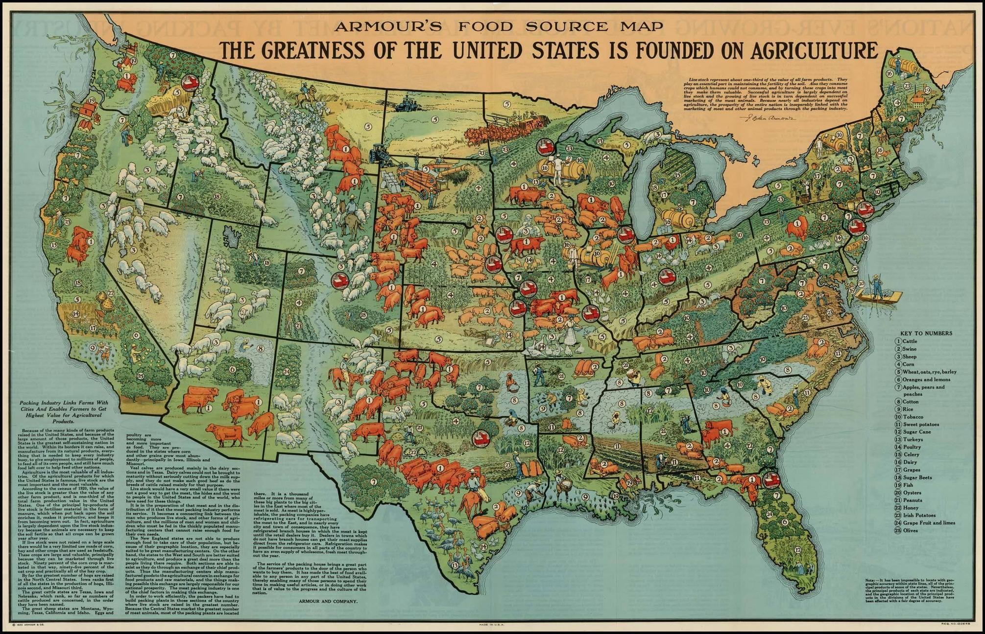 Of Map 1 American Agriculture In 1922 From 40 Maps That Explain Food In America Instruct Students To Compare The Agricultural Products Currently
