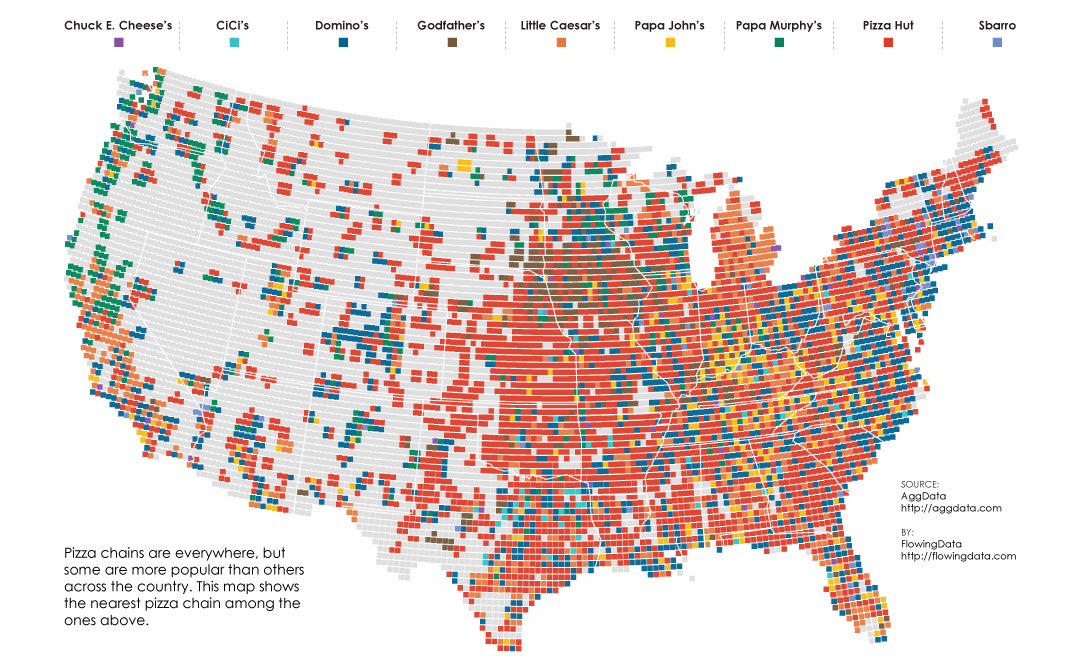 the map of american pizza chains
