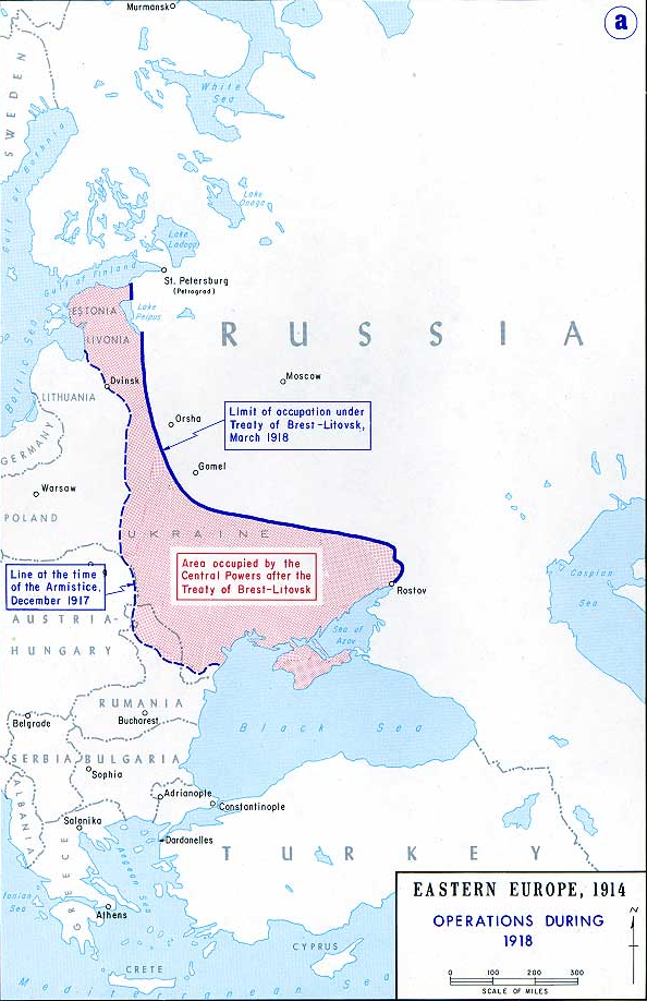 40 maps that explain world war i vox russia capitulates in the treaty of brest litovsk gumiabroncs