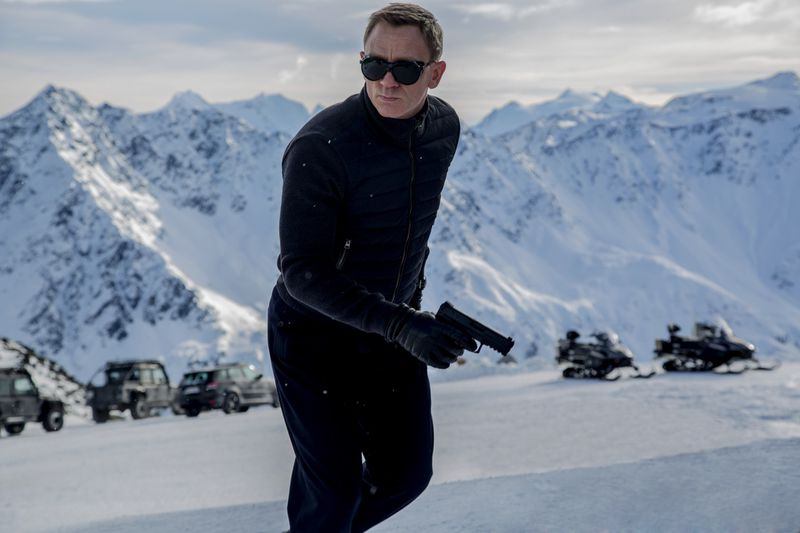 James Bond (Daniel Craig) 007 has returned. He makes his first appearance in this Spectre photo.