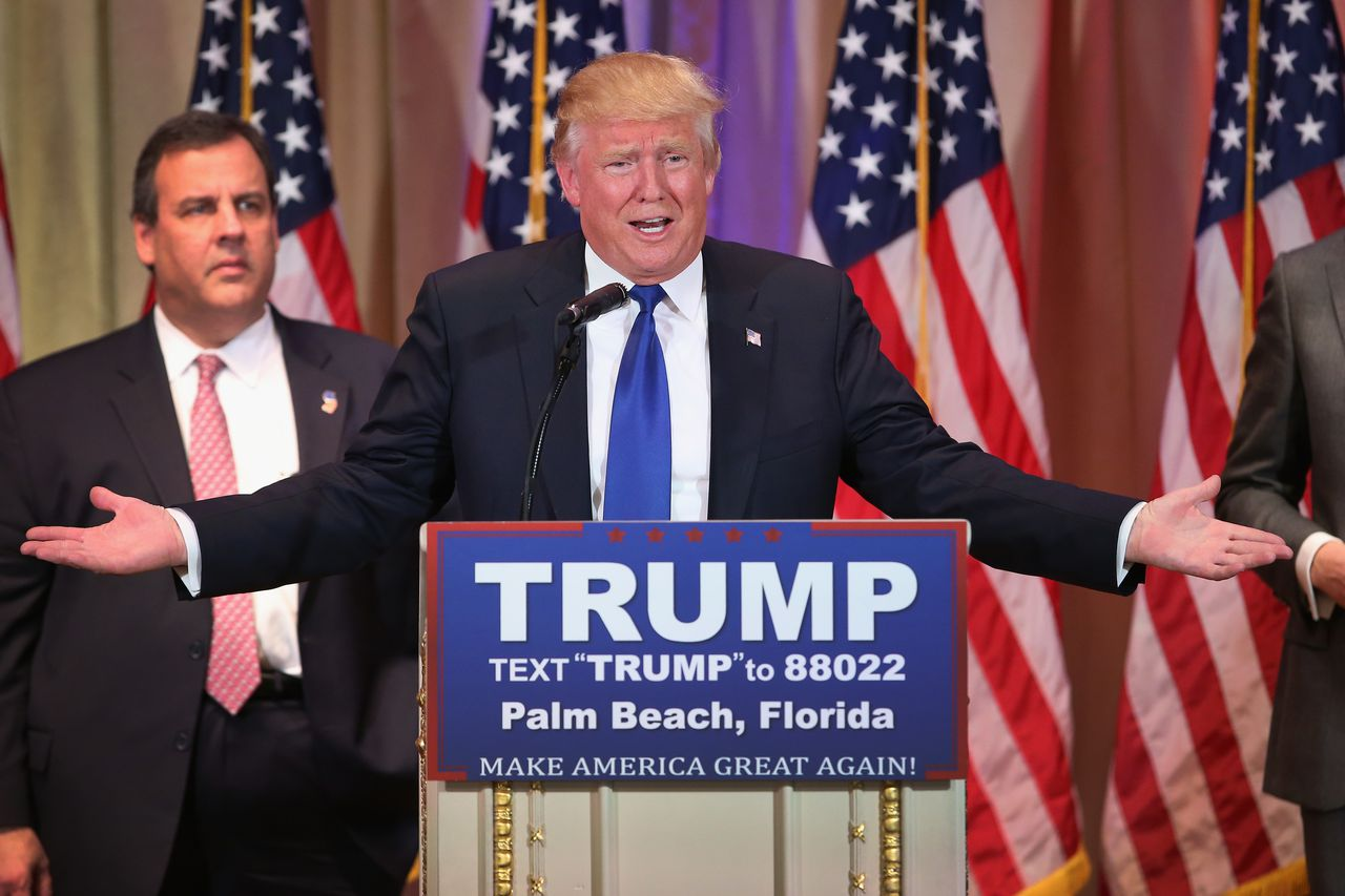 Chris Christie mocked for stunned stare during Trump event