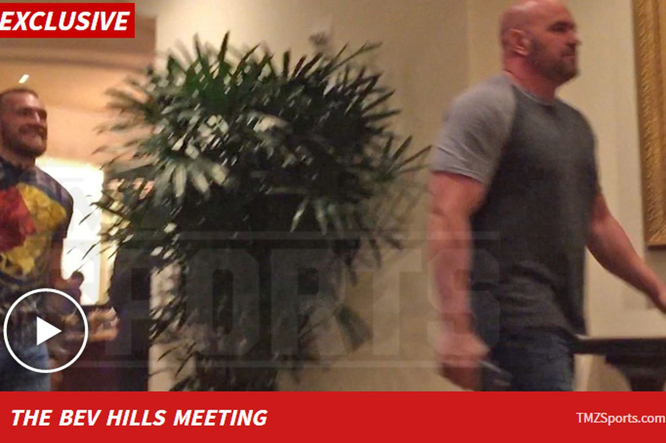 community news, Raw video: Conor McGregor, Dana White meet over dinner to plan next fight