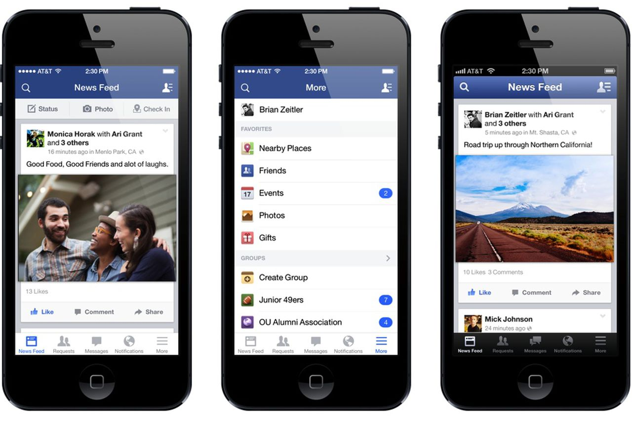 facebook iphone app how secretly redesigned its iphone app with your 10568