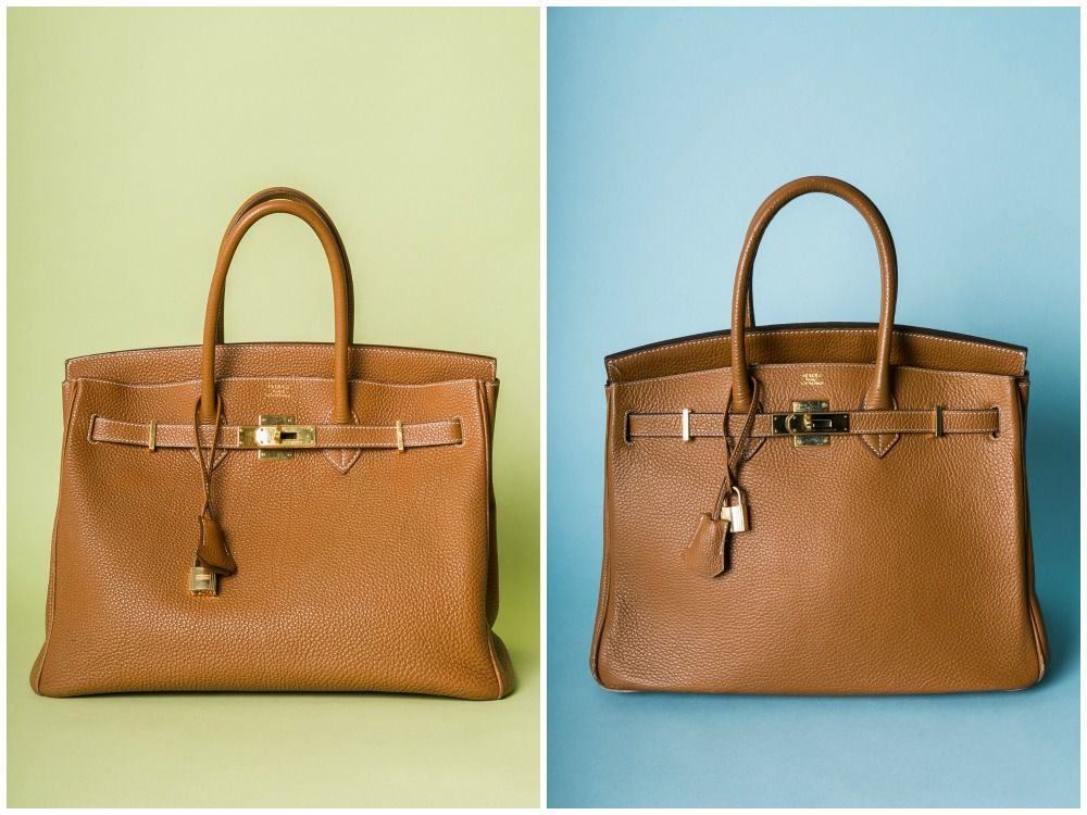 blue birkin bag - Here's How to Spot the Difference Between Real and Fake Designer ...