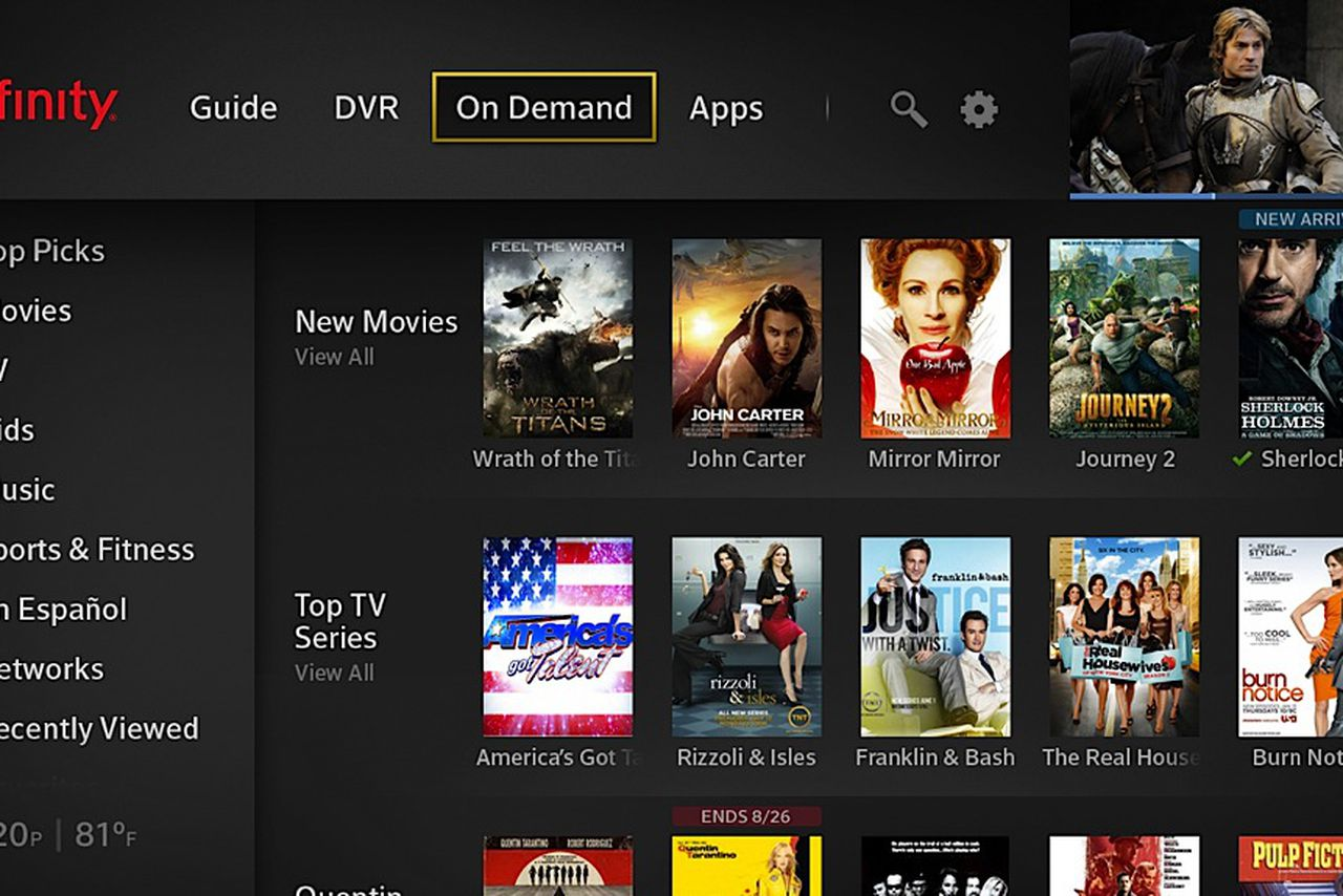 Mirror Xfinity App To Tv Of Comcast 39 S New X1 Ui Integrates Real Time And Streaming Tv